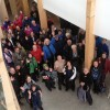 Rainbow Routes Winter Trek finished with a tour of the Living with Lakes Centre.