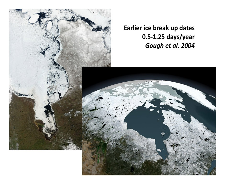 The number of ice free days is increasing.